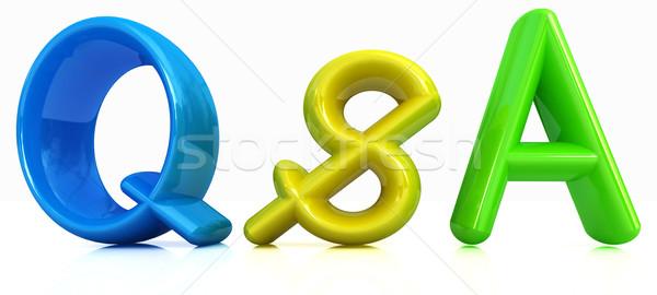 3D kleurrijk tekst brief vraag grafische Stockfoto © Guru3D