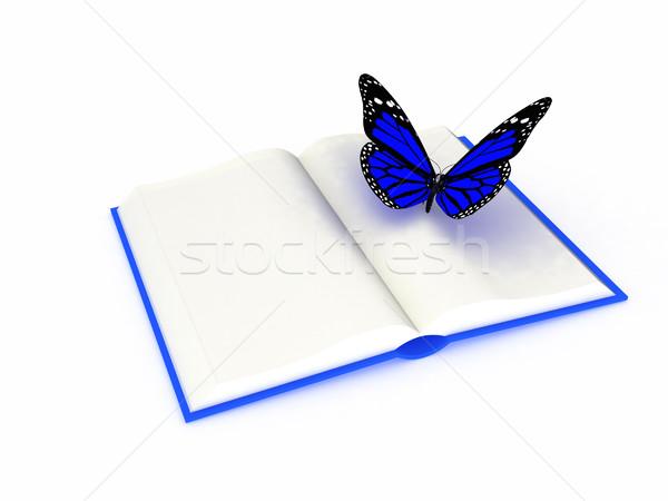 Vlinder boek witte zomer groene Blauw Stockfoto © Guru3D