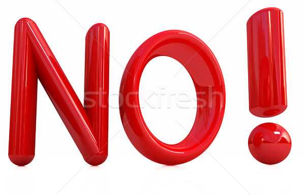 3d Red text ' No!' Stock photo © Guru3D