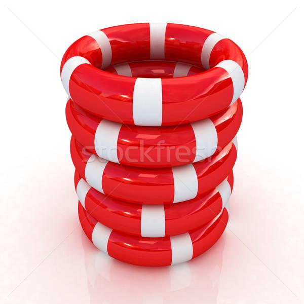 Rood veiligheid leven succes witte zwemmen Stockfoto © Guru3D