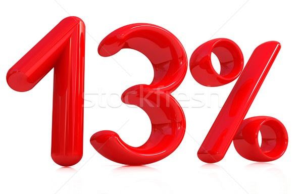 3d red '13' - thirteen percent Stock photo © Guru3D