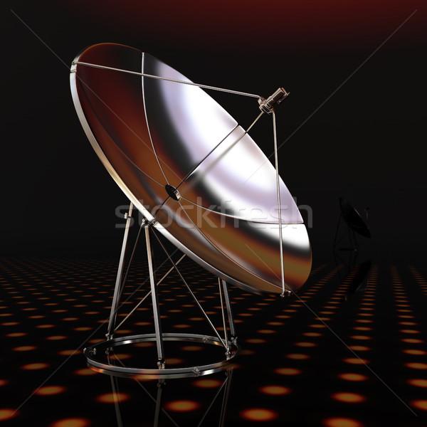 Fantastik karanlık teknoloji arka plan uzay kablo Stok fotoğraf © Guru3D