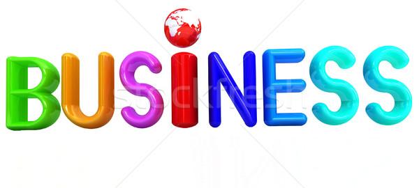 3D カラフル 文字 ビジネス 白 お金 ストックフォト © Guru3D