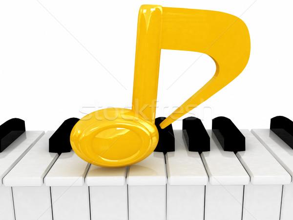 3d note on a piano Stock photo © Guru3D
