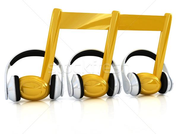 headphones and 3d note Stock photo © Guru3D