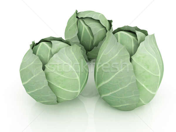 Stock photo: Green cabbage