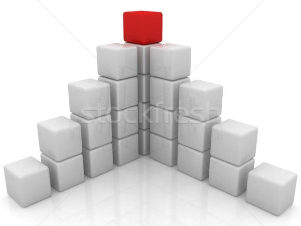 cubic diagram structure Stock photo © Guru3D