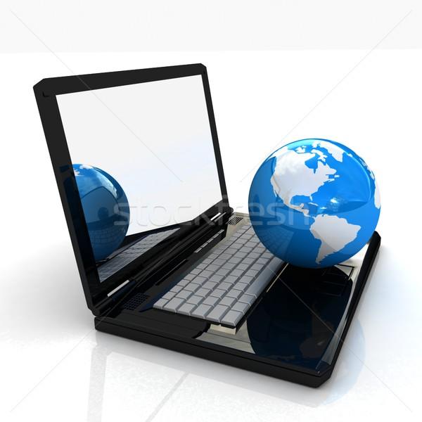 Bilgisayar ağ çevrimiçi beyaz dünya dünya Stok fotoğraf © Guru3D
