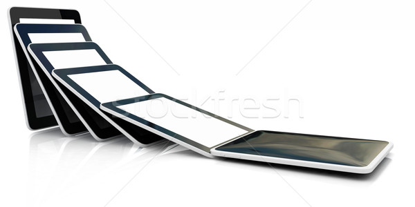 dynamics of the fall of the phone Stock photo © Guru3D