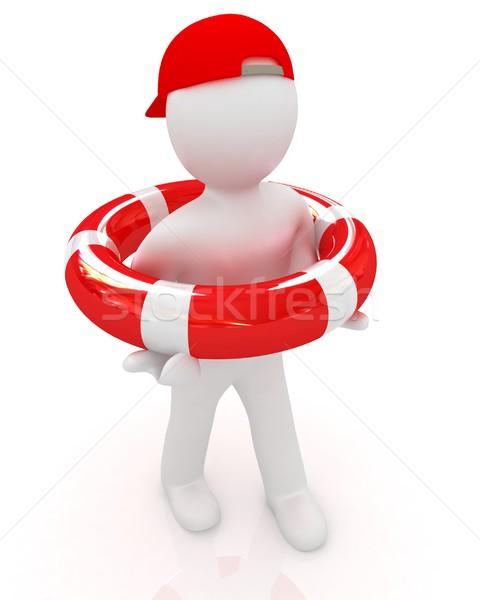 信頼性のある 保険 白 男 薬 看護 ストックフォト © Guru3D
