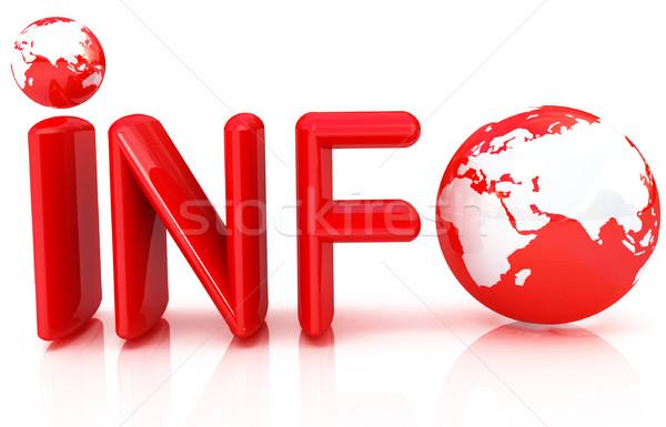 3d tekst info witte web informatie gegevens Stockfoto © Guru3D