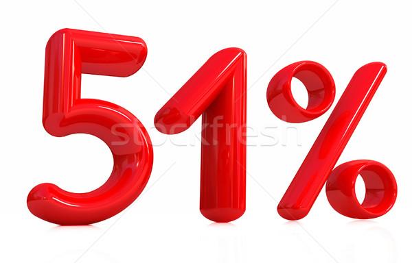 3D красный пятьдесят один процент белый Сток-фото © Guru3D