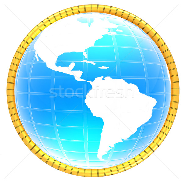 Stok fotoğraf: 3D · dünya · ikon · harita · soyut · deniz
