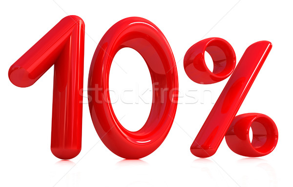 3D 赤 10 10 パーセント 白 ストックフォト © Guru3D