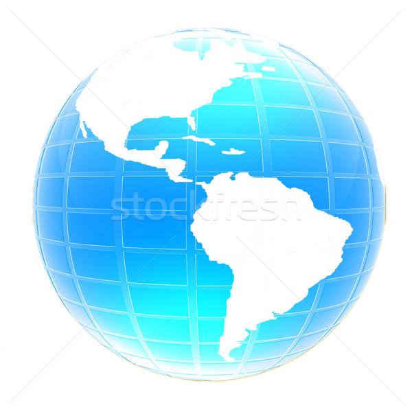 3d globe icon with highlights  Stock photo © Guru3D