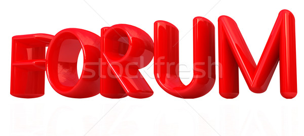 Forum 3D rouge texte blanche internet Photo stock © Guru3D