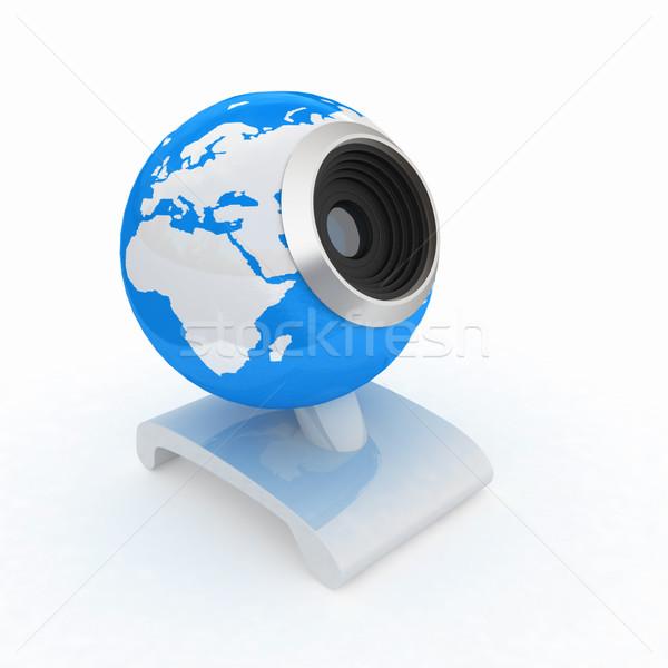 Webcam terra globale line bianco mondo Foto d'archivio © Guru3D