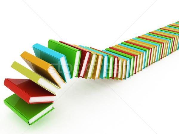красочный реальный книгах белый бумаги школы Сток-фото © Guru3D