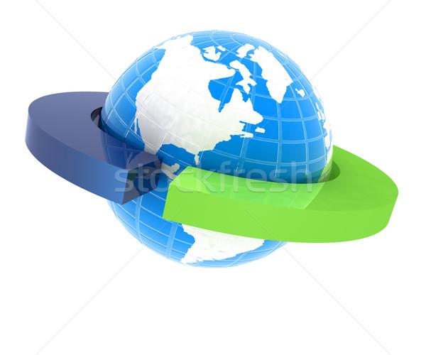 Aarde twee geïsoleerd witte ontwerp teken Stockfoto © Guru3D