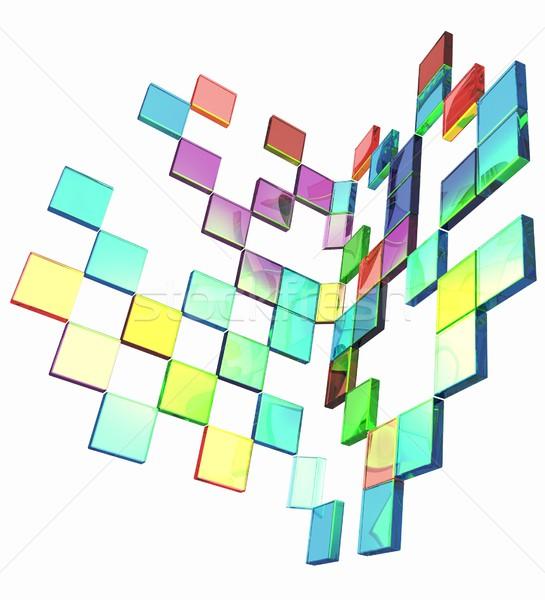 Vierkante frame ontwerp technologie ruimte web Stockfoto © Guru3D