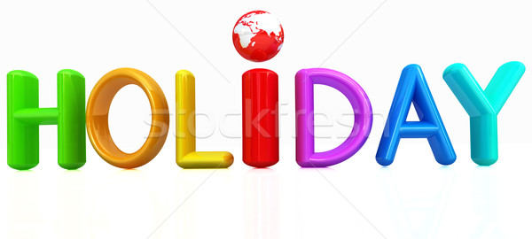 3d colorful text 'holiday' Stock photo © Guru3D