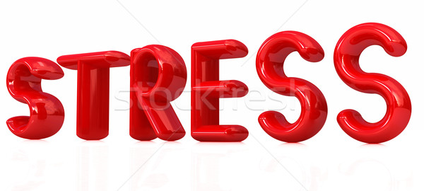 Stress 3d tekst witte leven macht tekst Stockfoto © Guru3D