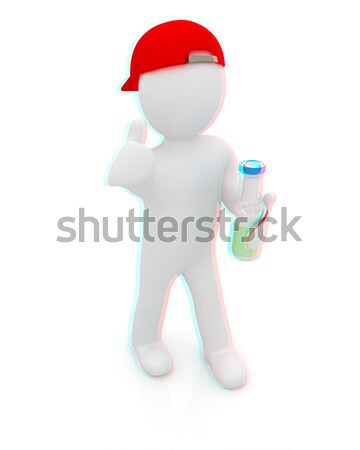 3d man carrying a water bottle with clean blue water  Stock photo © Guru3D