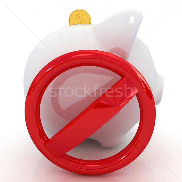 prohibition and piggy bank Stock photo © Guru3D