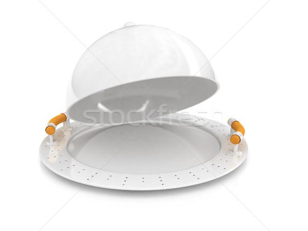 restaurant cloche with lid  Stock photo © Guru3D