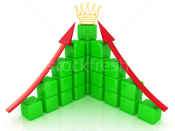 cubic diagramatic structure and crown Stock photo © Guru3D