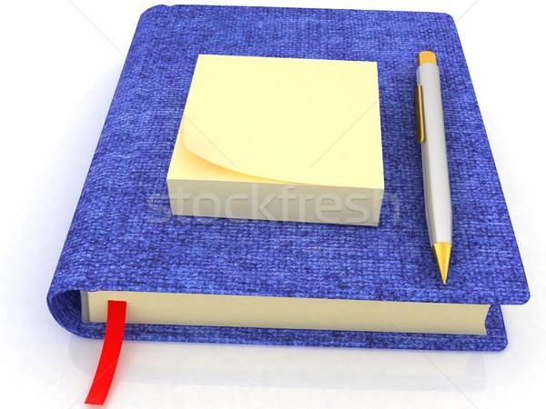 Note adesive pen notepad bianco carta matita Foto d'archivio © Guru3D