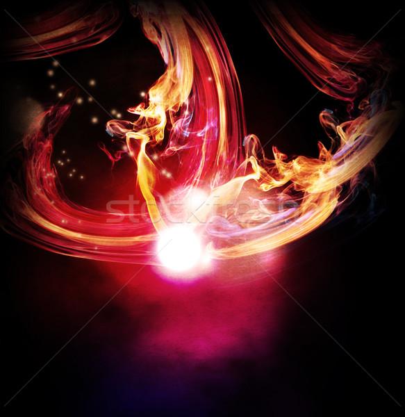Abstract luci sfondo palla rosso Foto d'archivio © Guru3D
