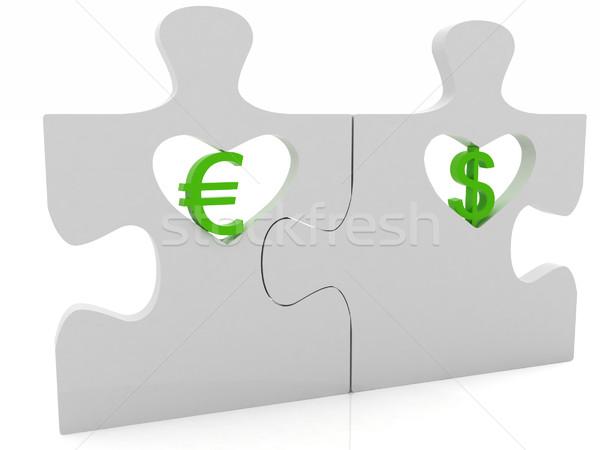 Para çift beyaz iş para işadamı Stok fotoğraf © Guru3D