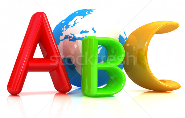 abc text and earth Stock photo © Guru3D