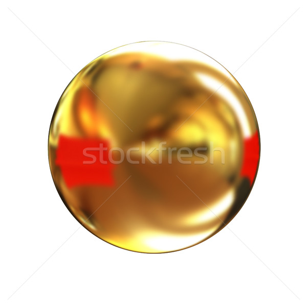 Or brillant bouton isolé blanche ordinateur Photo stock © Guru3D