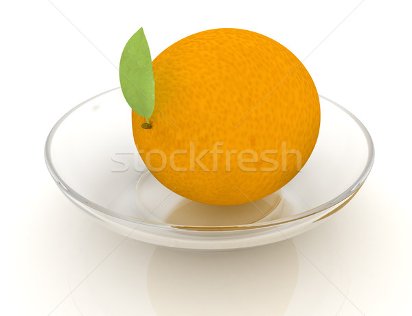 Orange plaque oranges blanche fruits vert Photo stock © Guru3D