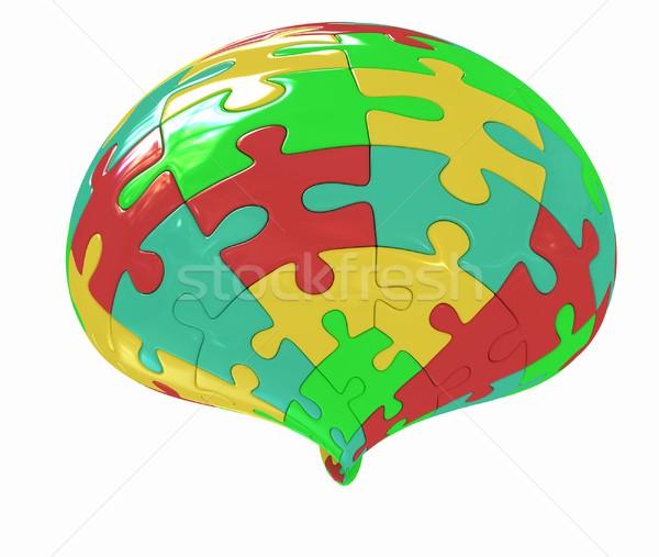 Abstracte vorm kleurrijk puzzel witte abstract groene Stockfoto © Guru3D