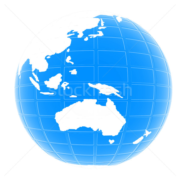Aarde geïsoleerd witte business wereldbol zee Stockfoto © Guru3D