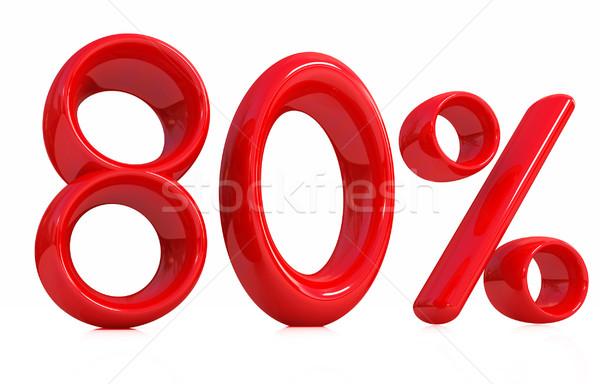 3D красный до 80 восемьдесят процент белый Сток-фото © Guru3D