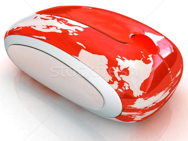 Wereldbol aarde lijn witte business computer Stockfoto © Guru3D