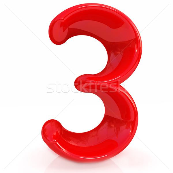Number '3'- three Stock photo © Guru3D