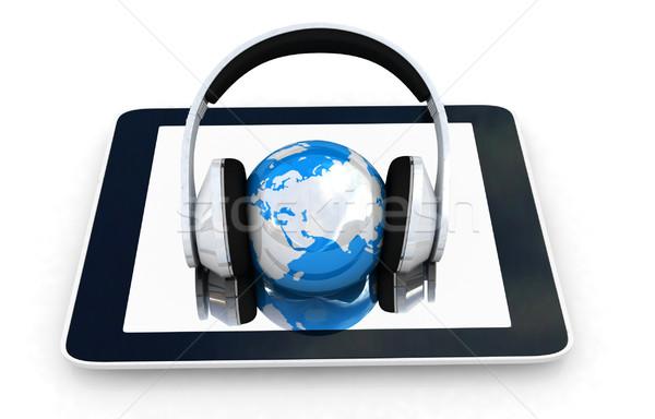 Telefoon internet telefoon concert mobiele zwarte Stockfoto © Guru3D