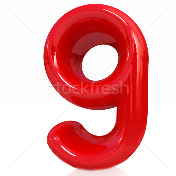 Numara dokuz beyaz eğitim imzalamak veri Stok fotoğraf © Guru3D