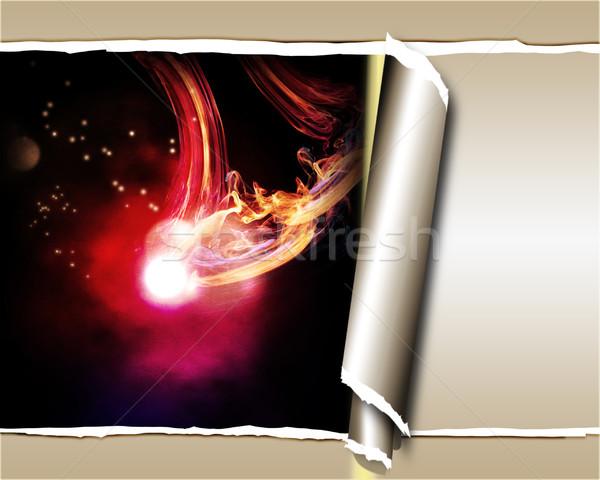Abstract lichten gescheurd papier papier licht Stockfoto © Guru3D