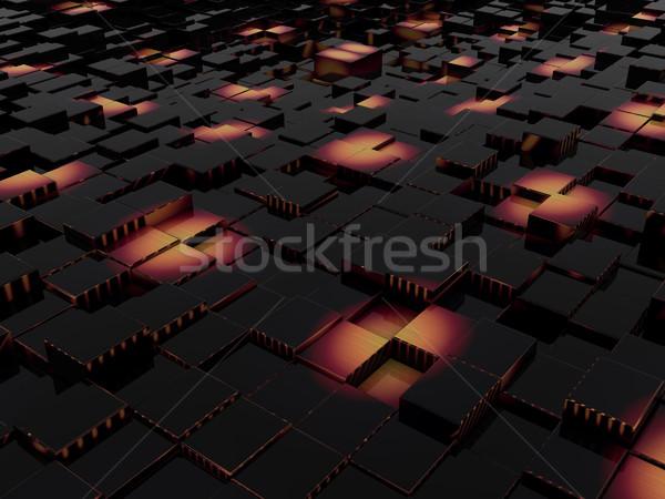 Abstract stedelijke business licht ontwerp kruis Stockfoto © Guru3D