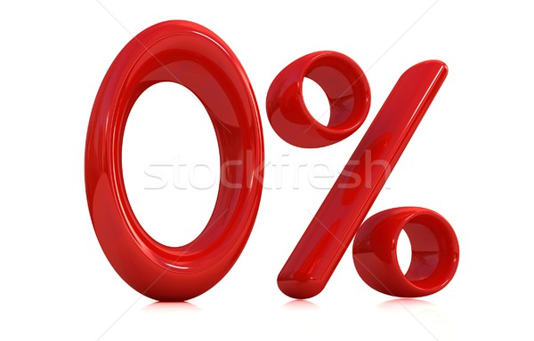 3D czerwony zero procent biały komputera Zdjęcia stock © Guru3D