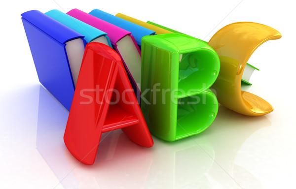 Alfabet kleurrijk echt boeken witte business Stockfoto © Guru3D