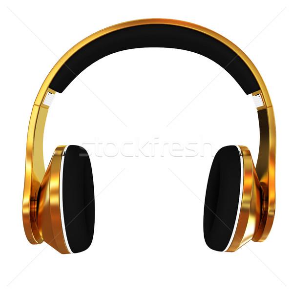 ヘッドホン 白 音楽 電話 ラジオ ストックフォト © Guru3D