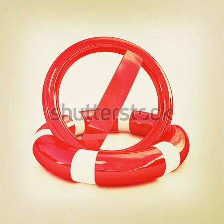 3D Rood tekst wereldbol abstract zomer Stockfoto © Guru3D