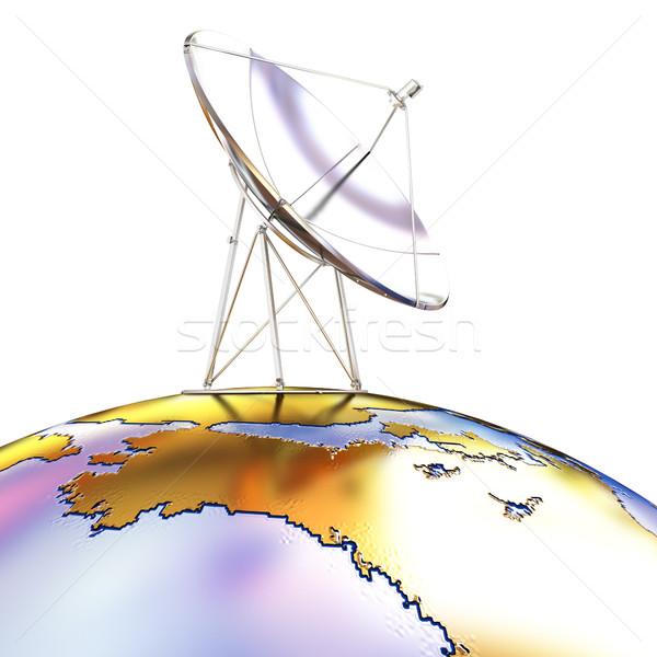 Aarde technologie achtergrond ruimte informatie witte Stockfoto © Guru3D